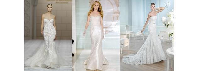 Свадебные платья рыбка (русалка, годе